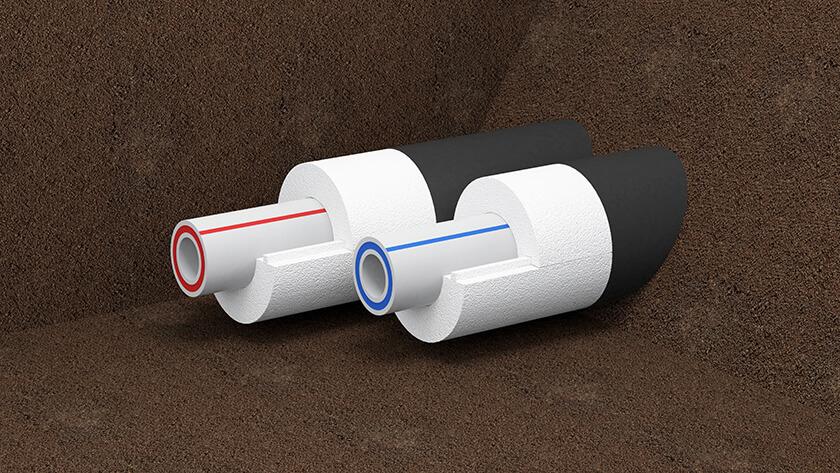 Это теплоизоляция трубопровода